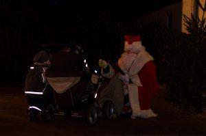 Der Weihnachtsmann verabschiedet sich