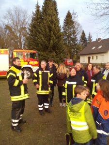 Begrüßung der Feuerwehr Ostenholz