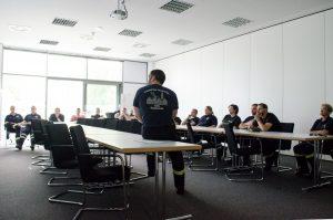 Theoriestunde im Unterrichtsraum der Celler Hauptwache.