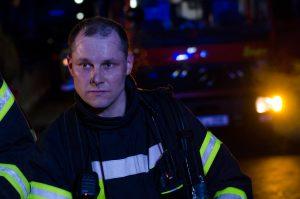 Christian aus dem 2ten AGT-Trupp nach dem Einsatz.