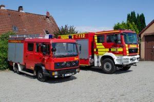 Die Fahrzeuge der Feuerwehr Lohheide