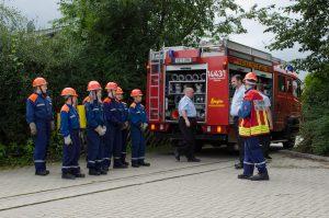 Einteilung der Trupps zur Brandbekämpfung