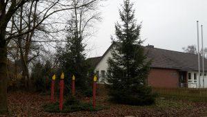 Traditionelles Weihnachtsbaum aufstellen 2017